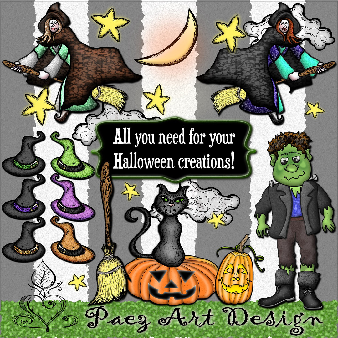 Halloween Clip Art BUNDLE {PaezArtDesign}