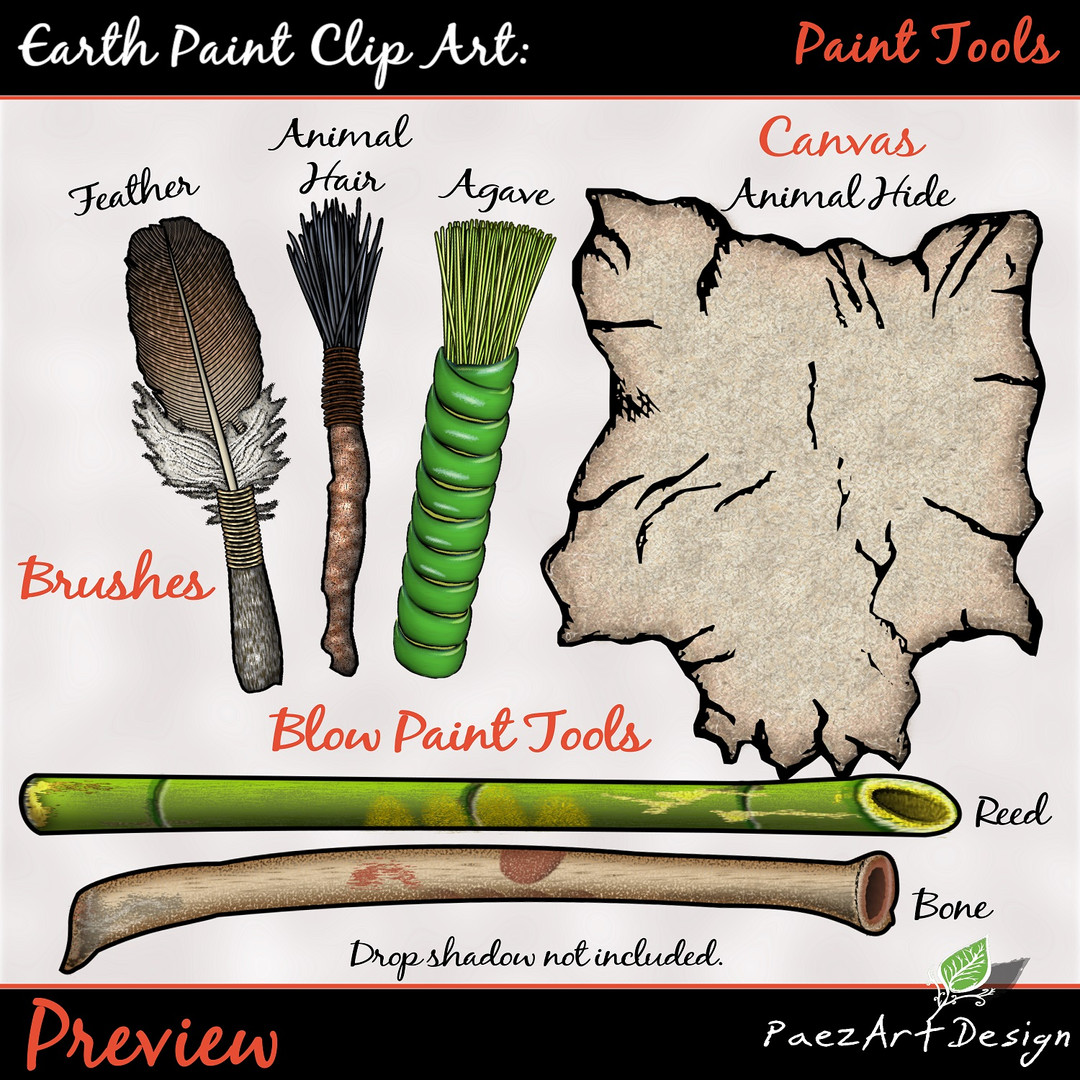 Earth Paint Clip Art_ Paint Tools #2 {PaEarth Paint Clip Art: Paint Tools {PaezArtDesign}
