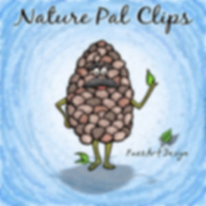 Nature Pal Illustrations | PaezArtDesign ClipArt Graphics | DigitalArt | Pincone