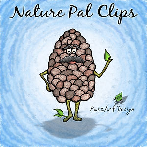 Nature Pal Illustrations | PaezArtDesign ClipArt Graphics | DigitalArt | Pincone