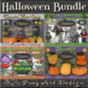 Halloween Clip Art BUNDLE | Holiday Digital Art Images | PaezArtDesign