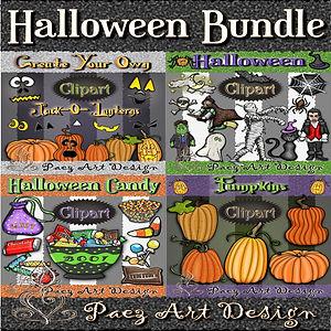 Halloween Clip Art BUNDLE | Holiday Digital Art Images | PaezArtDesign
