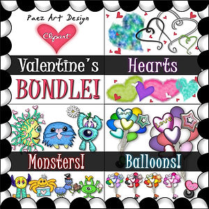 Valentine's Clip Art BUNDLE {PaezArtDesign}