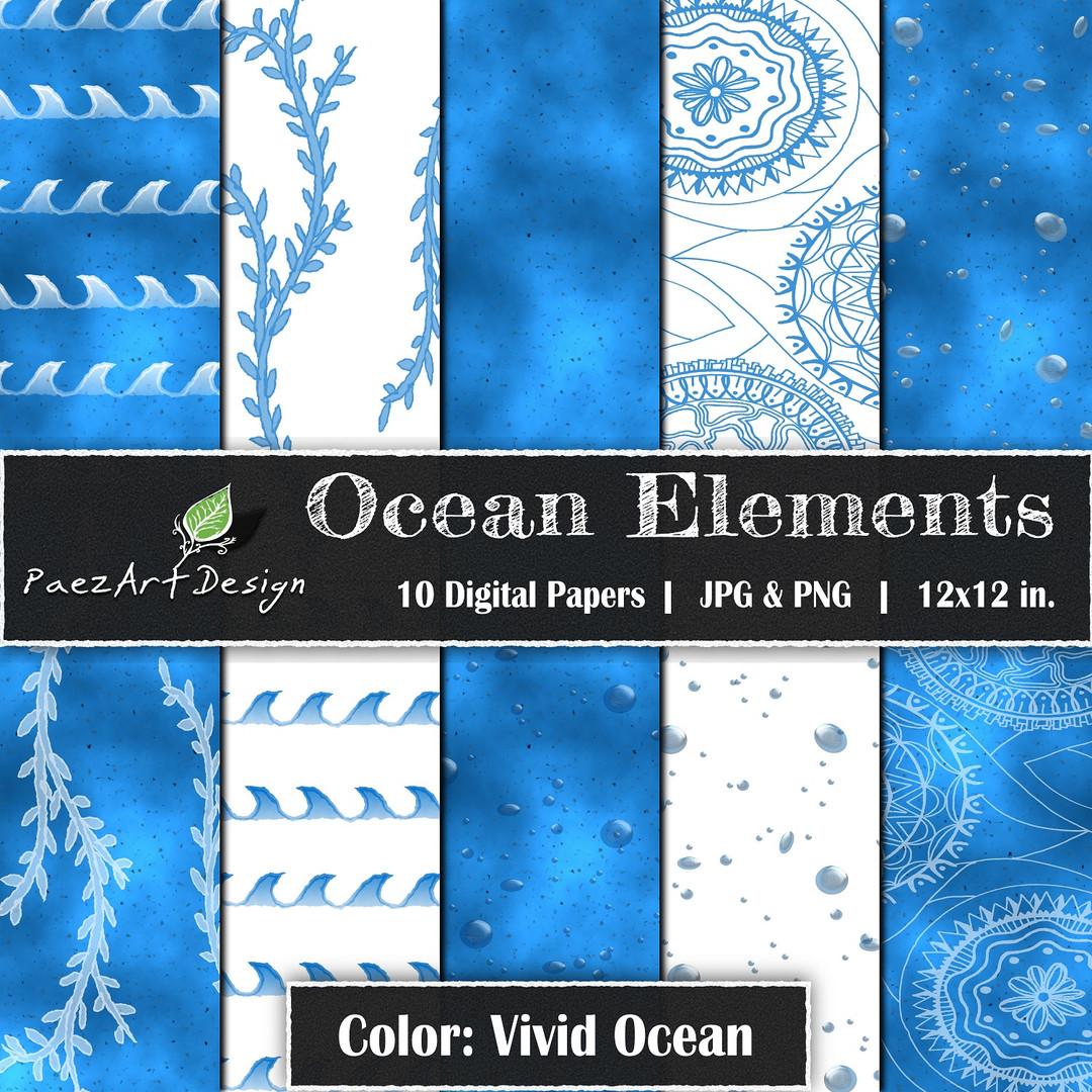 Ocean Elements: Vivid Ocean {PaezArtDesign}