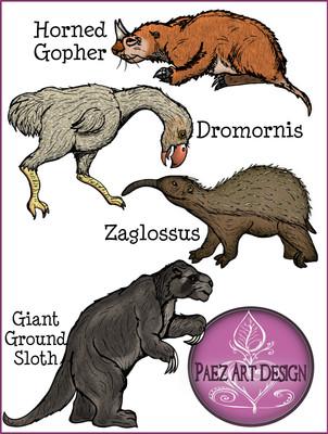 Prehistoric Animal Clip Art {PaezArtDesign}