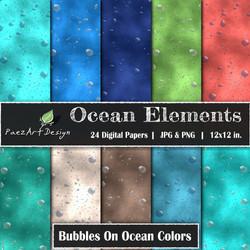 Ocean Elements: Bubbles On Color {PaezArtDesign}