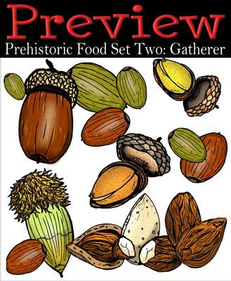 Prehistoric Era Foods: Gatherer- Nuts & Seeds {PaezArtDesign}