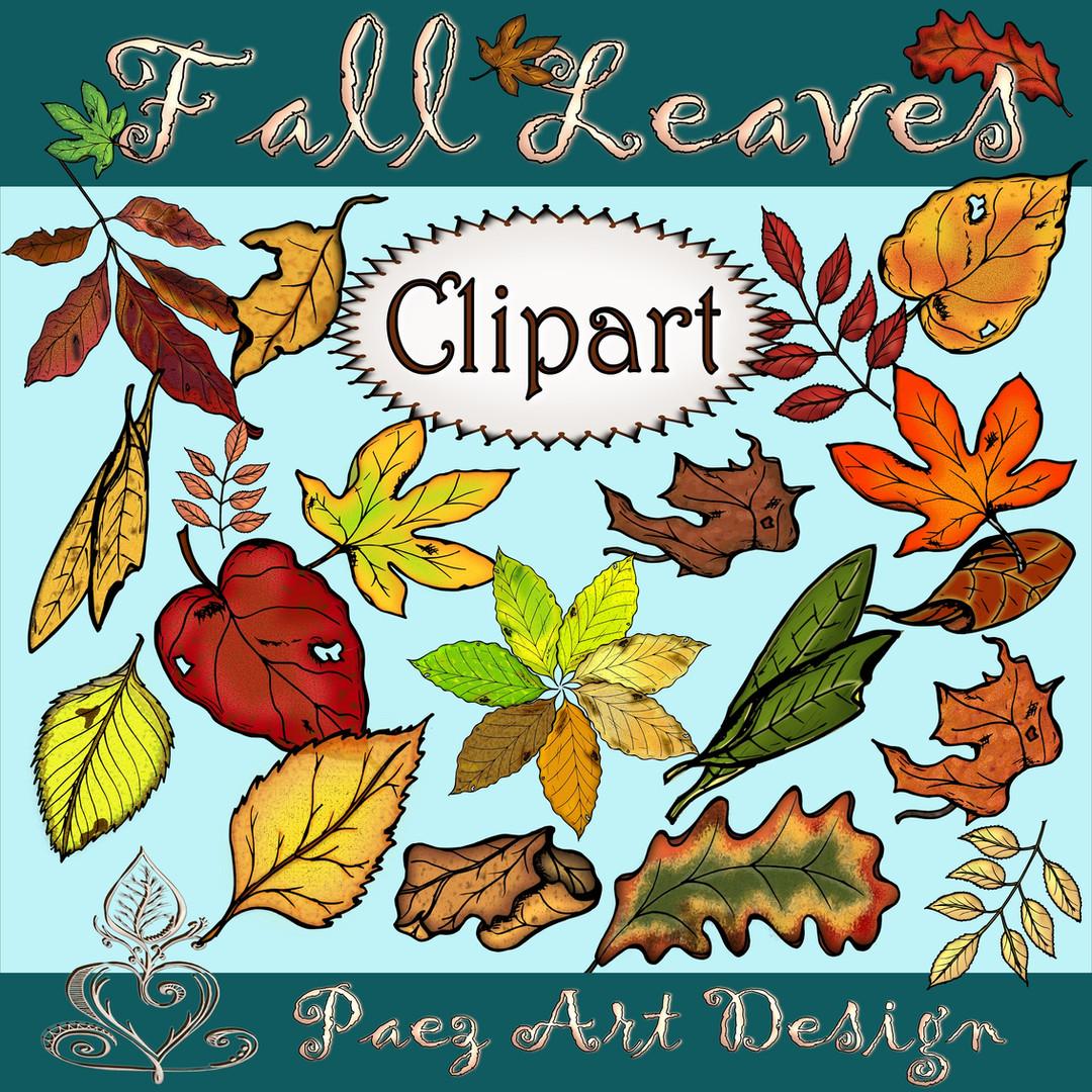 Fall Leaves Clip Art {PaezArtDesign}