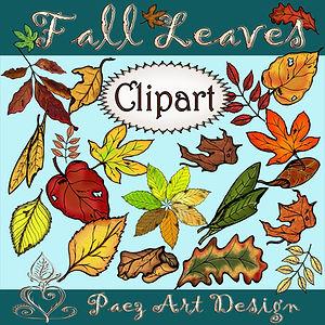Fall Leaf Clip Art Imags | Seasonal & Plant Graphics | PaezArtDesign Digital Art