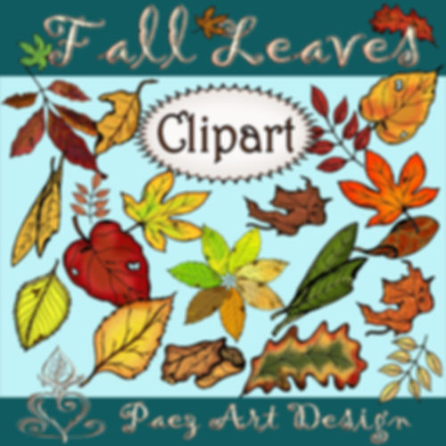 Fall Leaves Clip Art {PaezArtDesign}