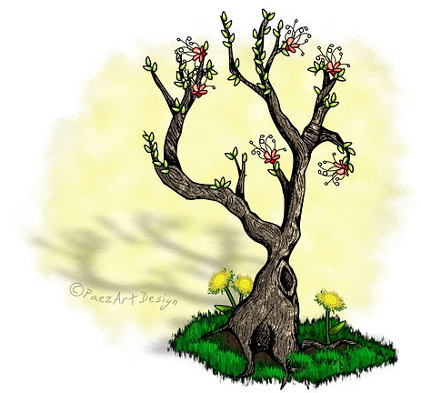 Seasons Tree: Spring {PaezArtDesign}