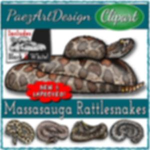 Massasauga Rattlesnake Clip Art {PaezArtDesign}