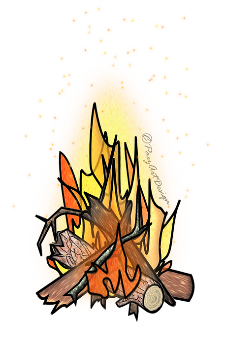 Prehistoric Era Clip Art | Fire, Primitive Skills Images | History & Science Graphics | PaezArtDesign Digital Arts