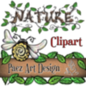 Nature Clip Art Images | Nature Graphics | Insects, Animals, Plants, & More | PaezArtDesign Digital Art