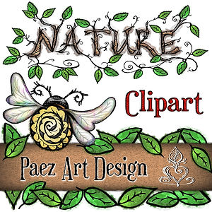 Nature Clip Art Images | Plants, Animals, Insects & More | PaezArtDesign Digital Art