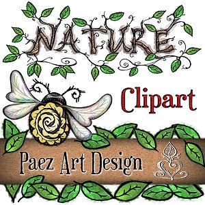 Nature Clip Art Images | Nature Graphics | Insects, Animals, Plants, & More | PaezArtDesign Digital Art