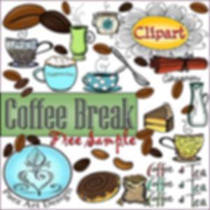 Coffee Break Clip Art {PaezArtDesign}