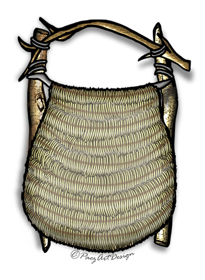 Prehistoric Era Clip Art Images | Clothing, back pack, bag | History & Science Graphics | PaezArtDesign Digital Art