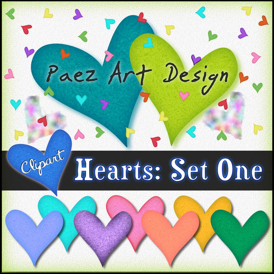 Hearts Clip Art {PaezArtDesign}