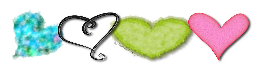 Hearts Clip Art Graphics | PaezArtDesign Digital Images