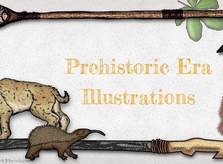 A Glimpse of the Past:  Prehistoric Era Illustrations