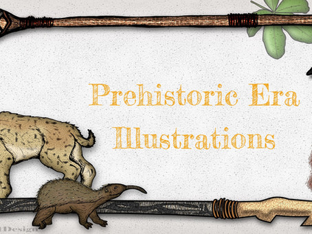 A Glimpse of the Past:  Prehistoric Era Illustrations