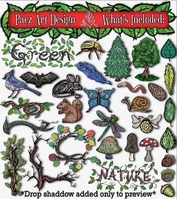 Nature Clip Art {PaezArtDesign}