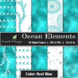 Ocean Elements: Reef Blue {PaezArtDesign}
