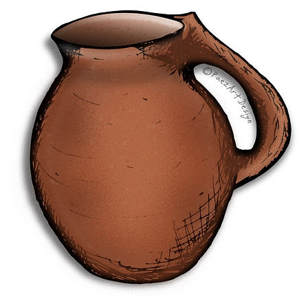 Prehistoric Era Clip Art Images | Pottery & Cookware, Terra Cotta Clay Pot | History & Science Graphics | PaezArtDesign Digital Arts