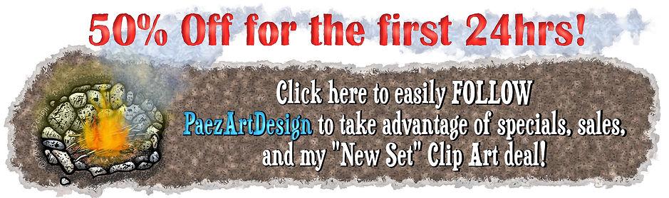 Follow PaezArtDesign | New Clip Art Deal | Specials, Sales