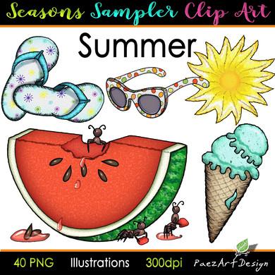 Seasons Sampler Clip Art {PaezArtDesign}