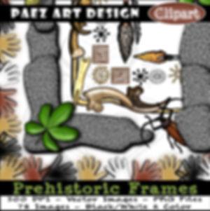 Prehistoric Clip Art Digital Frames {PaezArtDesign}