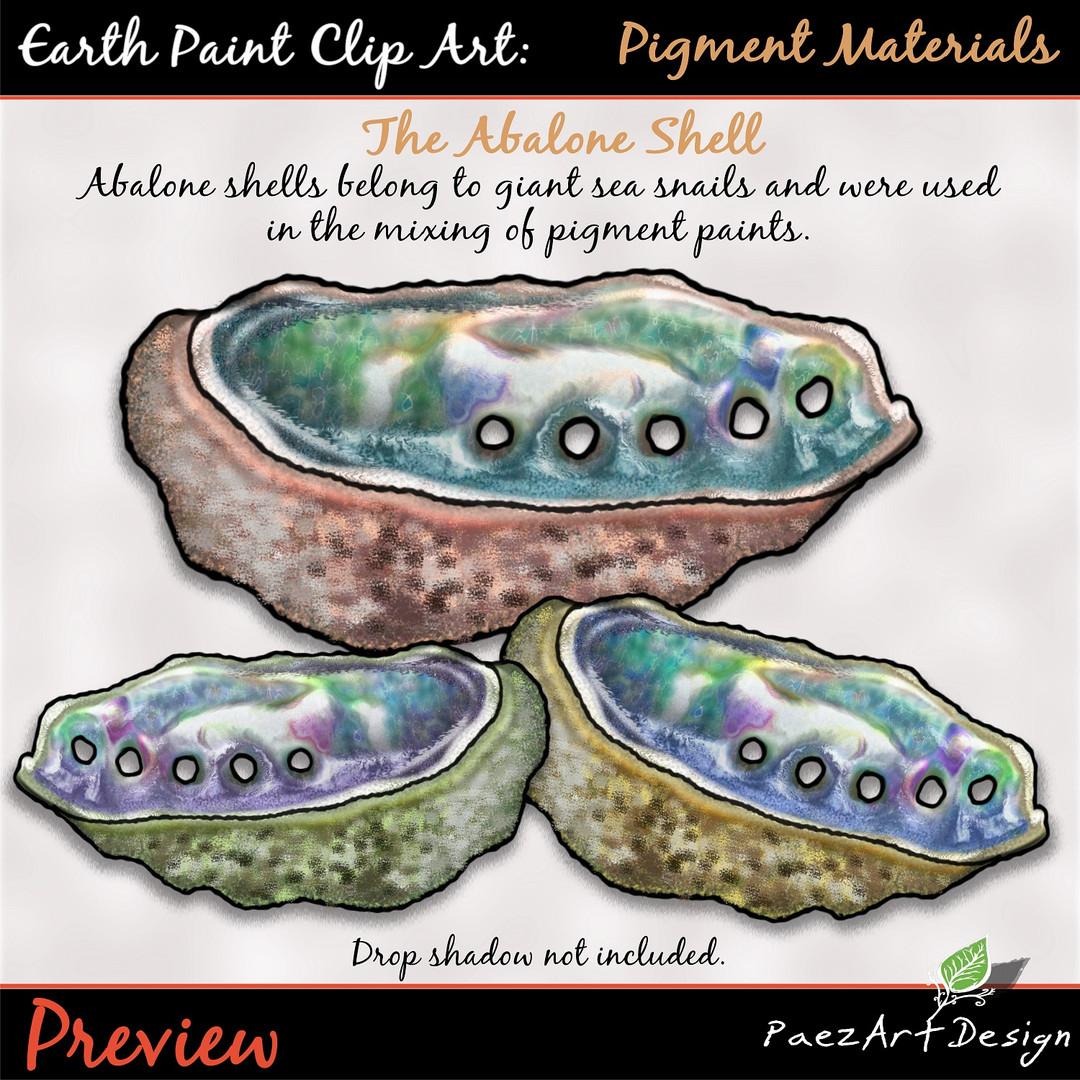 Earth Paint Clip Art_ Abalone Shell {PaeEarth Paint Clip Art: Pigment Materials {PaezArtDesign}
