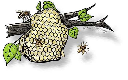 Prehistoric Era Food Clip Art Images | History Graphics | Bee Hive, Honey | PaezArtDesign Digital Art