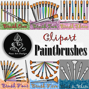 Paintbrush Clip Art BUNDLE {PaezArtDesign}