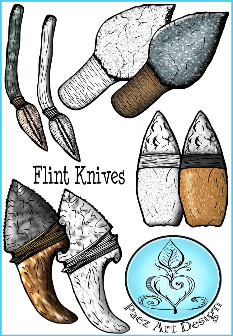 Prehistoric Era Tools Clip Art {PaezArtDesign}