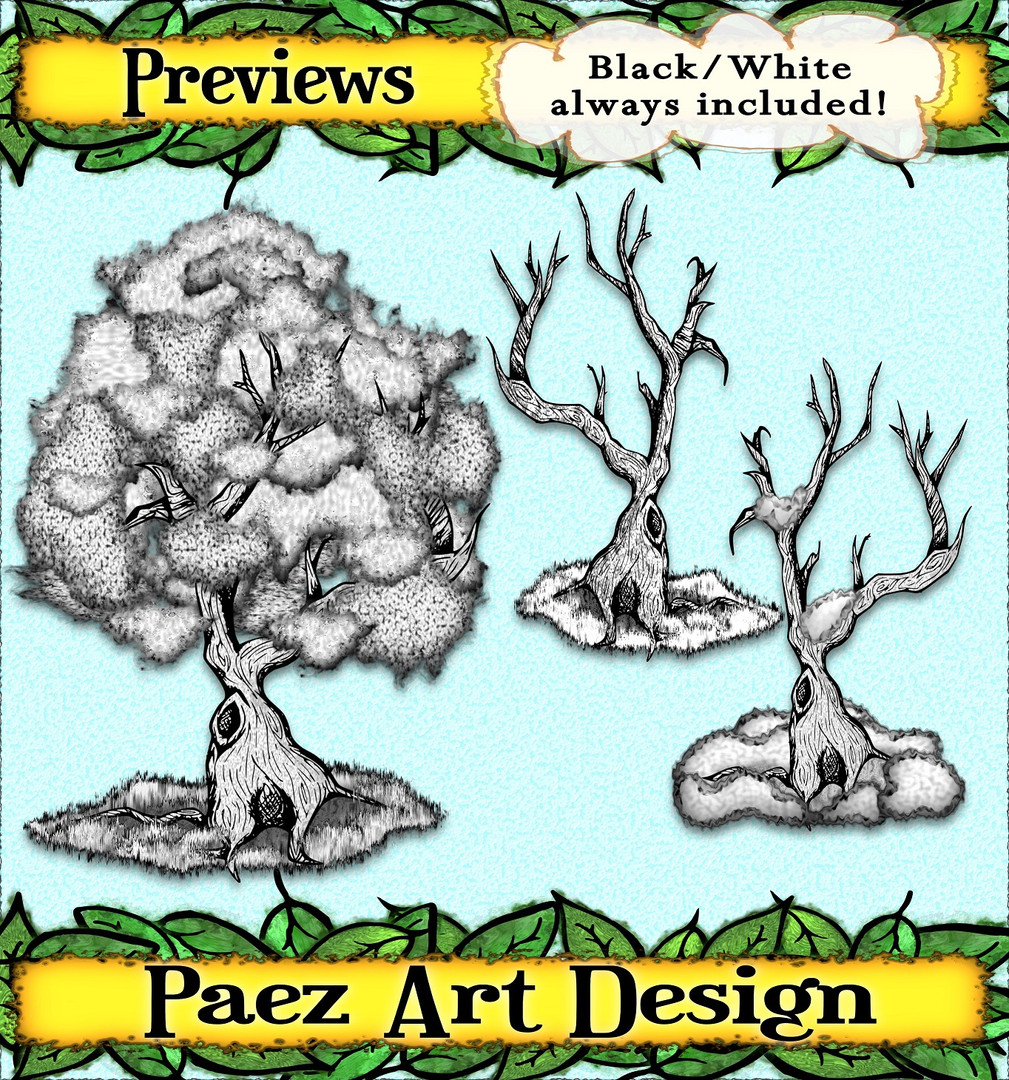 Seasons Tree Clip Art {PaezArtDesign}