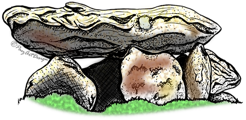 Prehistoric Era Clip Art Images | Dwellings & Structures, Dolmen | History & Science Graphics | PaezArtDesign Digital Art
