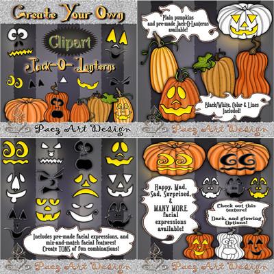 Halloween Clip Art BUNDLE {PaezArtDesign}