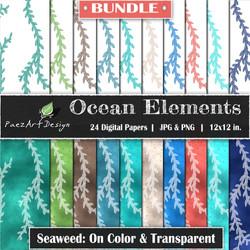 Ocean Elements: Seaweed Bundle {PaezArtDesign}
