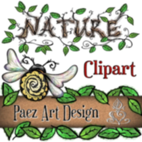 Nature Clip Art Images | Nature, Insect, Plant, Animal Graphics | PaezArtDesign Digital Art