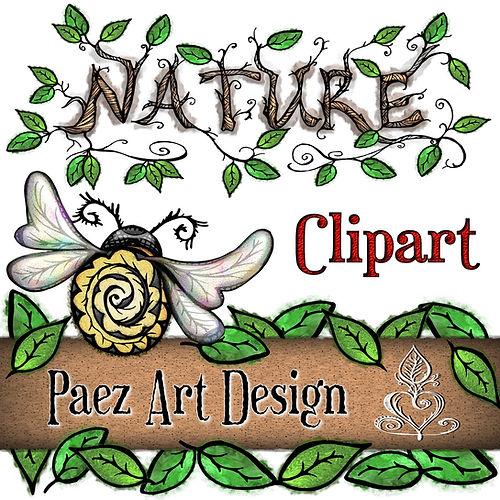 Nature Clip Art Images | Nature, Insect, Plant, Animal Graphics | PaezArtDesign Digital Art