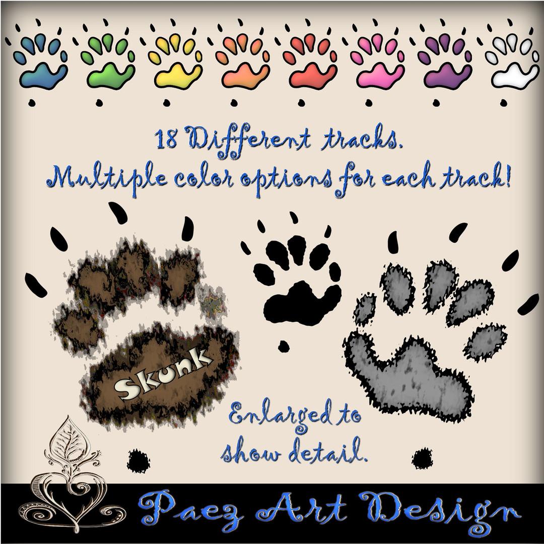 Animal Tracks Clip Art {PaezArtDesign}