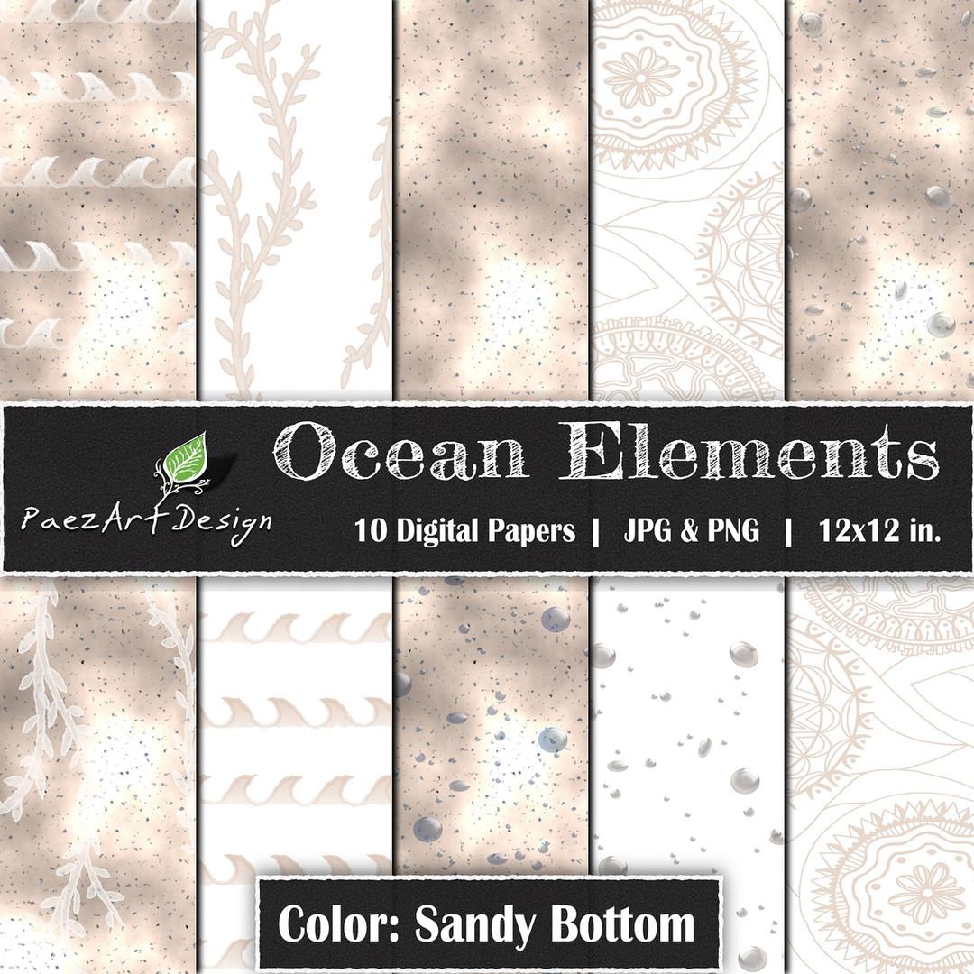 Ocean Elements: Sandy Bottom {PaezArtDesign}