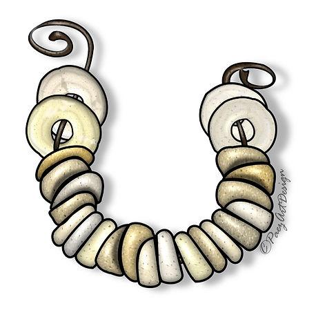 Prehistoric Jewelry Clip Art Images | History Graphics | Shell Bracelet | PaezArtDesign Digital Art