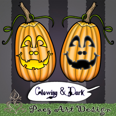 Jack-O-Lantern Clip Art {PaezArtDesign}