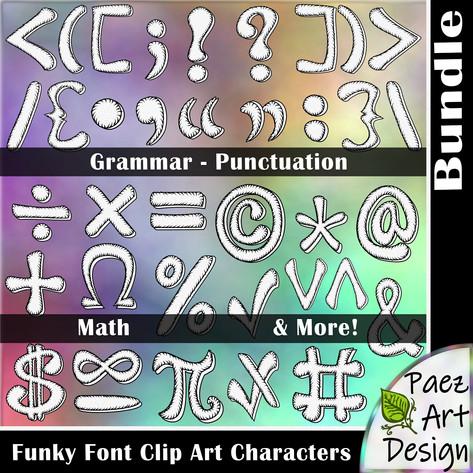 Funky Font Clip Art Characters | Growing Bundle {PaezArtDesign}