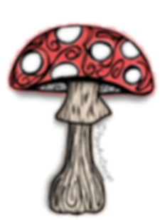 Mushroom Clip Art Images | Plant & Nature Graphics | PaezArtDesign Digital Art