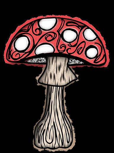 Mushroom Clip Art Images | Plant & Nature Graphics | PaezArtDesign Digital Art