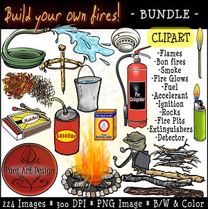 Fire Clip Art BUNDLE {PaezArtDesign}